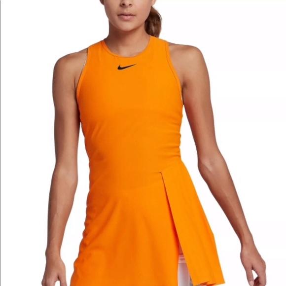 46007d67a3254 Nike Dresses | Womens Court Tennis Dress Orange New With Tag | Poshmark